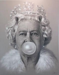 The Queen Bubblegum | From a unique collection of portrait prints at https://www.1stdibs.com/art/prints-works-on-paper/portrait-prints-works-on-paper/