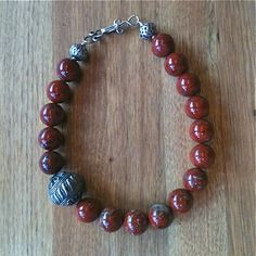 20now discount code for Matthew Izzo jewelry collection, red jasper with sterling beads