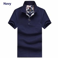 Sale 19% (12.99$) - Men\'s Lapel Polo Cotton Solid Casual Short Sleeve T-shirt