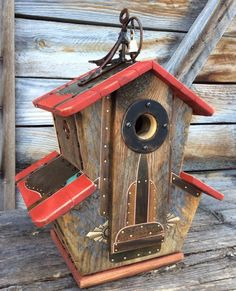 Unique Birdhouse Barnwood Villa Handmade by CampbellWoodworks Wyoming, Forest House, Nesting Boxes, Reclaimed Barn Wood, Home Design, Bird Houses, Bird Feeders, Etsy Vintage, Grand Teton National Park