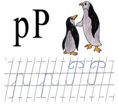 Literele p mic si P mare de mana Preschool, Classroom, Activities, Montessori, Panda, Fictional Characters, Class Room, Kid Garden, Kindergarten