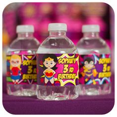Supergirl; Supergirl Party; Supergirl Birthday; Supergirl Birthday; Super Girl; Super Girl Water Bottle Wrappers Printed Cut, and Shipped