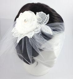White birdcage veil white tulle birdcage by AnitaHiltonweddings, £23.00