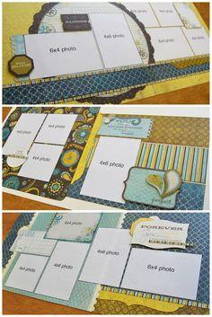 SCRAPBOOK GENERATION: New Debbie Sanders kits! Scrapbook Layout Sketches, Scrapbook Templates, Card Sketches, Scrapbook Paper Crafts, Scrapbooking Layouts, Sketch 4, Scrapbook Designs, Paper Crafting, Disney Scrapbook