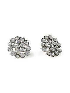 Tinley Road Round Rhinestone Stud Earring | Piperlime $16.00