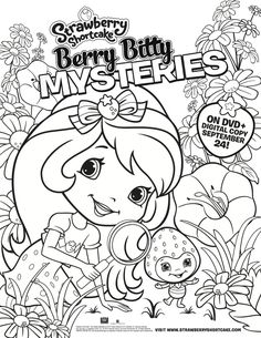 78 best strawberry shortcake images strawberry shortcake toys 1970s Barbie Camper strawberry shortcake printable coloring page