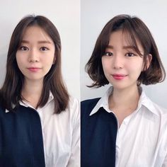 • hair만으로도 다른사람이~? 헤어스타일 전/후 : 네이버 블로그 Permed Hairstyles, Short Hairstyles For Women, Girl Hairstyles, Short Bob Styles, Medium Hair Styles, Long Hair Styles, Oki Doki, Makeup Transformation, Hair Inspo
