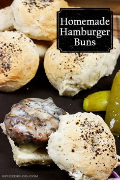 You'll never buy store-bought Hamburger Buns again! #homemade