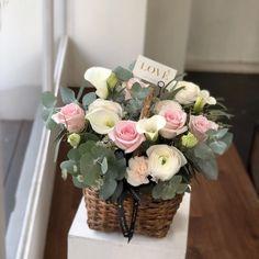 꽃바구니 flower basket 아기 백일상에 함께할 꽃바구니로 주문해주셨어요^^ 백일상 사진도 함께 보내주시...