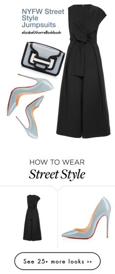 """""""NYFW JUMPSUITS"""" by elizabethhorrell on Polyvore featuring TIBI, Christian Louboutin and Pierre Hardy"""