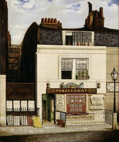 Allen's Tobacconist Shop, 'The Woodman', 20 Hart Street, Grosvenor Square: 1841 by Robert Allen. Museum quality art prints with a selection of frame and size options, and canvases. Museum of London Old London, London Art, East London, British Shop, British Travel, The Woodman, Victorian London, London Museums, Shop Fronts
