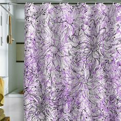 Lisa Argyropoulos Angelica Purple Shower Curtain
