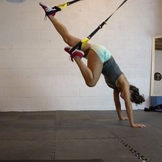TRX Mountain Climbers - definitely a challenge but something totally new to try…