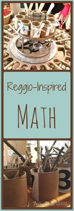 Reggio-Inspired Math Activities and Ideas. Find out more at Fairy Dust Teaching.