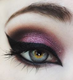 Glitter eye makeup. Eyes say a lot about how you feel.