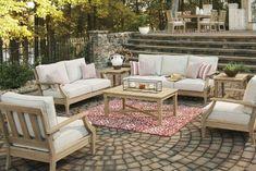Wood Patio Furniture, Diy Garden Furniture, Outdoor Furniture Sets, Farmhouse Outdoor Furniture, Furniture Market, Coaster Furniture, Patio Diy, Backyard Patio, Backyard Ideas