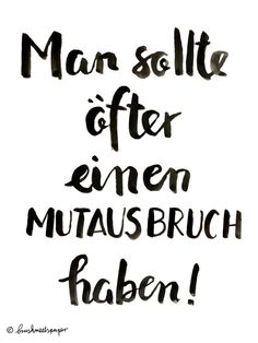 Mutausbruch Brush Lettering Quote Brushmeetspaper