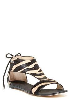 Searra Zebra Calf Hair Sandal