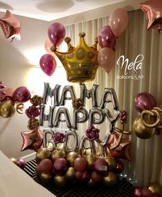 Image may contain: indoor Birthday Goals, Office Birthday, Diy Birthday, Birthday Party Themes, Birthday Balloon Decorations, Birthday Balloons, Mothers Day Balloons, Balloons And More, Balloon Gift