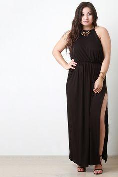 Ruched Waist Side Slit Maxi Dress – Style Lavish