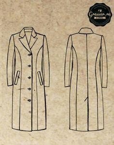 Базовые лекала пальто, выкройка №252,  магазин выкроек grasser.ru