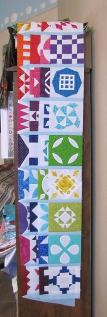 Dear Jane WIP by Lyn at What a Hoot!