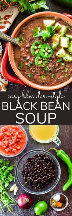 Black Bean Soup is a quick & easy, flavor-packed meal the whole family will love. Loaded with tomatoes, peppers, onions, cilantro, and seasonings, it makes a delicious addition to any menu... and it's the perfect base for all your favorite toppings!