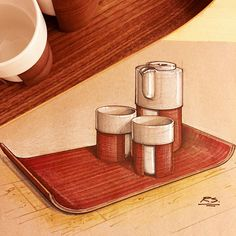If you are looking for a great place to get your daily design inspiration and caffeine fix check out @BudinNYC in Green Point BK. I finally got around to buying this Tonfisk Warm tea set (for @mohennasarkar ) from them and felt compelled to sketch it on this snowy Sunday. #id #idsketching #sketch #sketching #drawing #budin #Brooklyn #greenpoint #Finland #Scandinavian #tonfisk #design #industrialdesign #productdesign #coffeeshop @sketch_daily