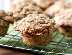 Easy banana walnut muffins with a streusel topping.