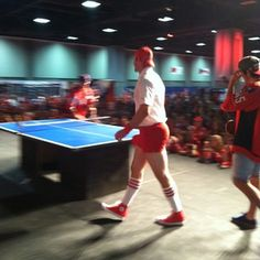 Troy Brouwer came dressed to impress at the 2013 #CapsCon ping pong panel.