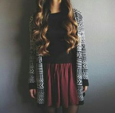 Amazing Christmas Outfit For Women You Have To Wear Teen Fashion, Fashion Outfits, High School Fashion, Fashion Beauty, Fall Winter Outfits, Christmas Outfits, Winter Clothes, Winter Style, Look Cool