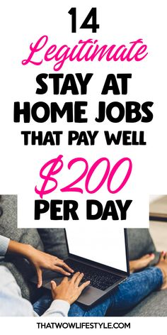 Discover the list of work at home jobs that pay well in They are easy, real and can make you extra money fast. They are not stay at home jobs only for moms but for men or teens to make money on the side. Ways To Earn Money, Earn Money From Home, Stay At Home, How To Get Money, Make Money Online, Money Fast, Legit Work From Home, Work From Home Jobs, Legitimate Online Jobs