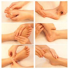 You can, in fact, perform a very simple foot massage to stimulate these spots on your feet and encourage relaxation in your body.