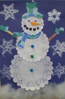 doilie snowman