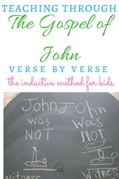 Inductive Study for Kids - a simple Bible study of John 1:8.  What is a witness?