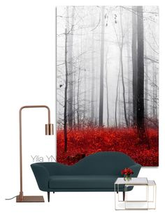 """Red artwork"" by yyuan11 on Polyvore featuring interior, interiors, interior design, home, home decor, interior decorating, Trademark Fine Art, Gubi, Mitchell Gold + Bob Williams and CB2"