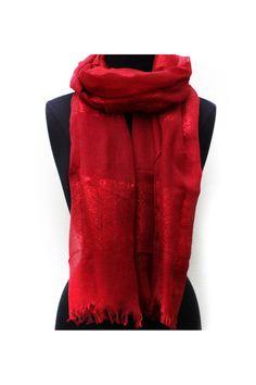 Audrey Scarf in Millan Red on Emma Stine Limited