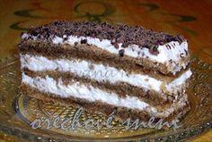 Show details for Recept - Ořechové snění Czech Desserts, Slovak Recipes, Breakfast Dessert, Afternoon Tea, Nutella, Tiramisu, Sweet Tooth, Sweets, Baking