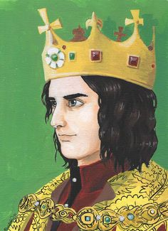 Modern portrait of Richard III, available on Etsy