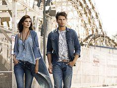 Colección Septiembre 2015 / Ir a comprar tendencia azul de hombre: www.tennis.com.co Duster Coat, Denim, Jackets, Fashion, Shopping, September, Blue Nails, Trends, Down Jackets