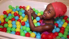 Ball Bath with Bath Ball surprise toys  Ball Pit Balls Bath Time Challen...