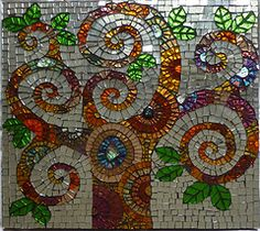 mirrored glass mosaic of a swirly-branched tree Mosaic Crafts, Mosaic Projects, Mosaic Ideas, Mirror Mosaic, Mosaic Wall, Stone Mosaic, Mosaic Glass, Glass Tiles, Mosaic Pieces