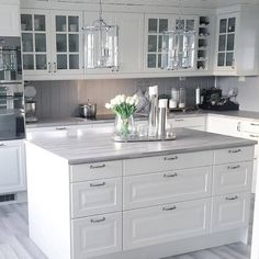 Designs of White Kitchen Cabinet Tips & Guide inspiredeccor White Kitchen Cabinets Cabinet Designs Guide inspiredeccor Kitchen tips White Ikea Galley Kitchen, Galley Kitchen Design, Galley Kitchen Remodel, Kitchen Room Design, White Kitchen Cabinets, Home Decor Kitchen, Kitchen Layout, Kitchen Interior, Home Kitchens