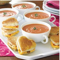 Tomato soup with heart shaped grilled cheese. Yummy and super cute!