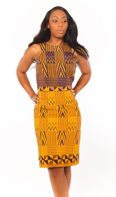 Super cute dress with a great pattern, good to dress up or dress down. Need some Ghanaian fabric!