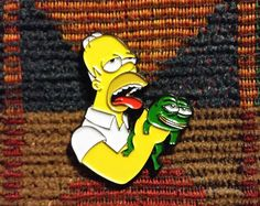Browse unique items from RhiaGypsyVintagePins on Etsy, a global marketplace of handmade, vintage and creative goods. Cool Pins, Pin Badges, Iron On Patches, Lapel Pins, Edm, Bart Simpson, Trending Outfits, Creative, Handmade Gifts