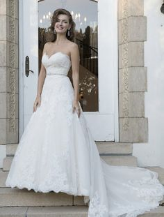 0e1d1af90e1 Gracie - Strapless A-line gown with sweetheart neckline and detachable  beaded belt on waist