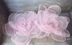 Pale pink flowers hair. Pink hair clip. Bridal by AcoyaJewellery