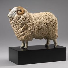 """Whiteface Dartmoor Sheep - Ltd Edition Bronze Sheep Sculpture of Champion Whiteface Dartmoor Ram, """"William"""", by acclaimed animal sculptor, Nick Bibby. Sculpture Clay, Bronze Sculpture, Metal Sculptures, Abstract Sculpture, Ceramic Pottery, Ceramic Art, Sheep Pen, Cute Clay, Art Archive"""