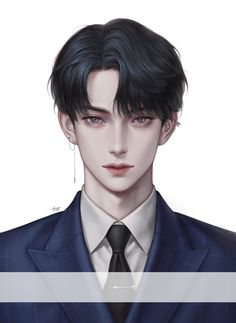 Cool Anime Guys, Handsome Anime Guys, Cute Anime Boy, Anime Art Girl, Korean Anime, Korean Art, Digital Art Anime, Fantasy Art Men, Boy Drawing